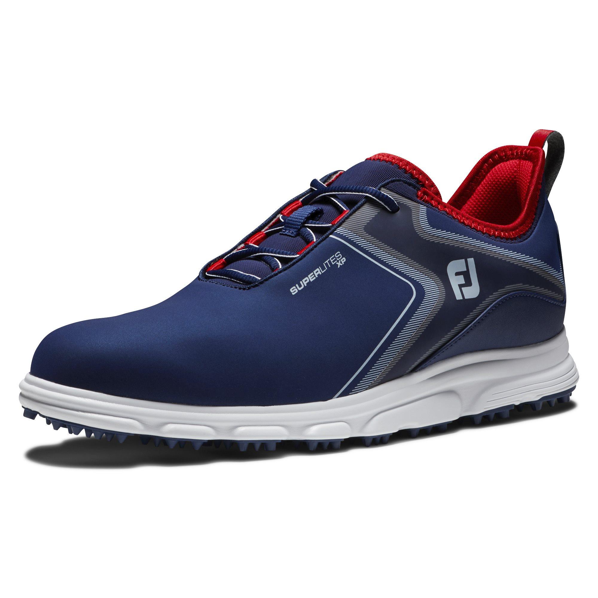 FootJoy heren golfschoenen SuperLites XP blauw-wit-rood