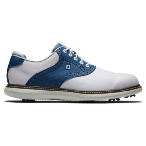 FootJoy heren golfschoenen Traditions wit-blauw