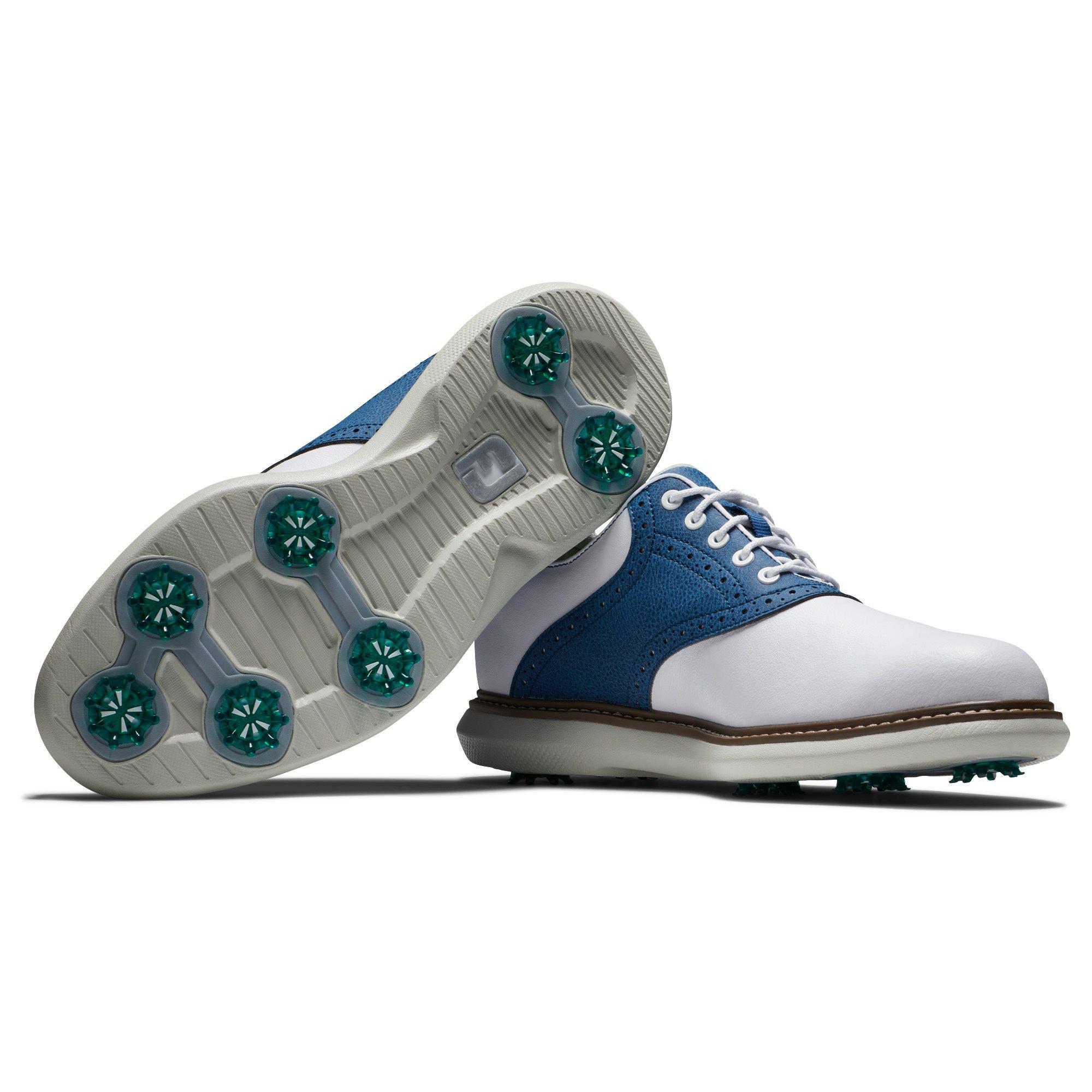 FootJoy heren golfschoenen Traditions wit-blauw