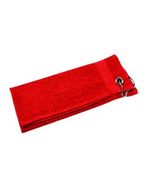Silverline golfhanddoekje rood