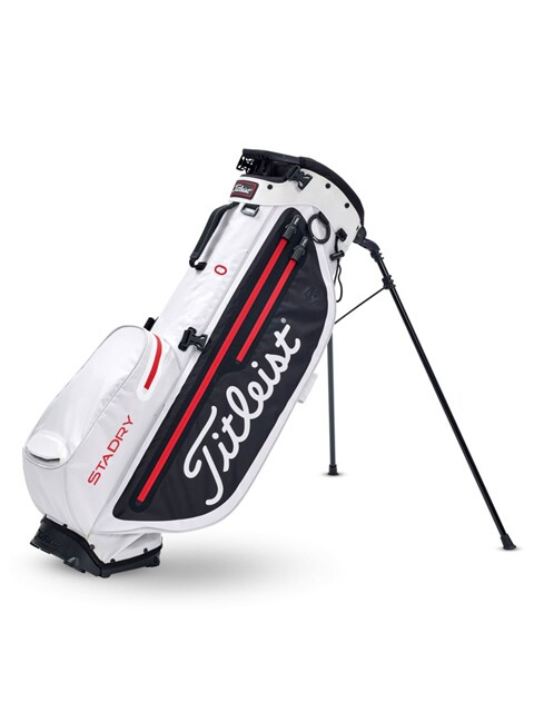 Titleist golftas Players 4+ StaDry Stand Bag navy-wit-rood