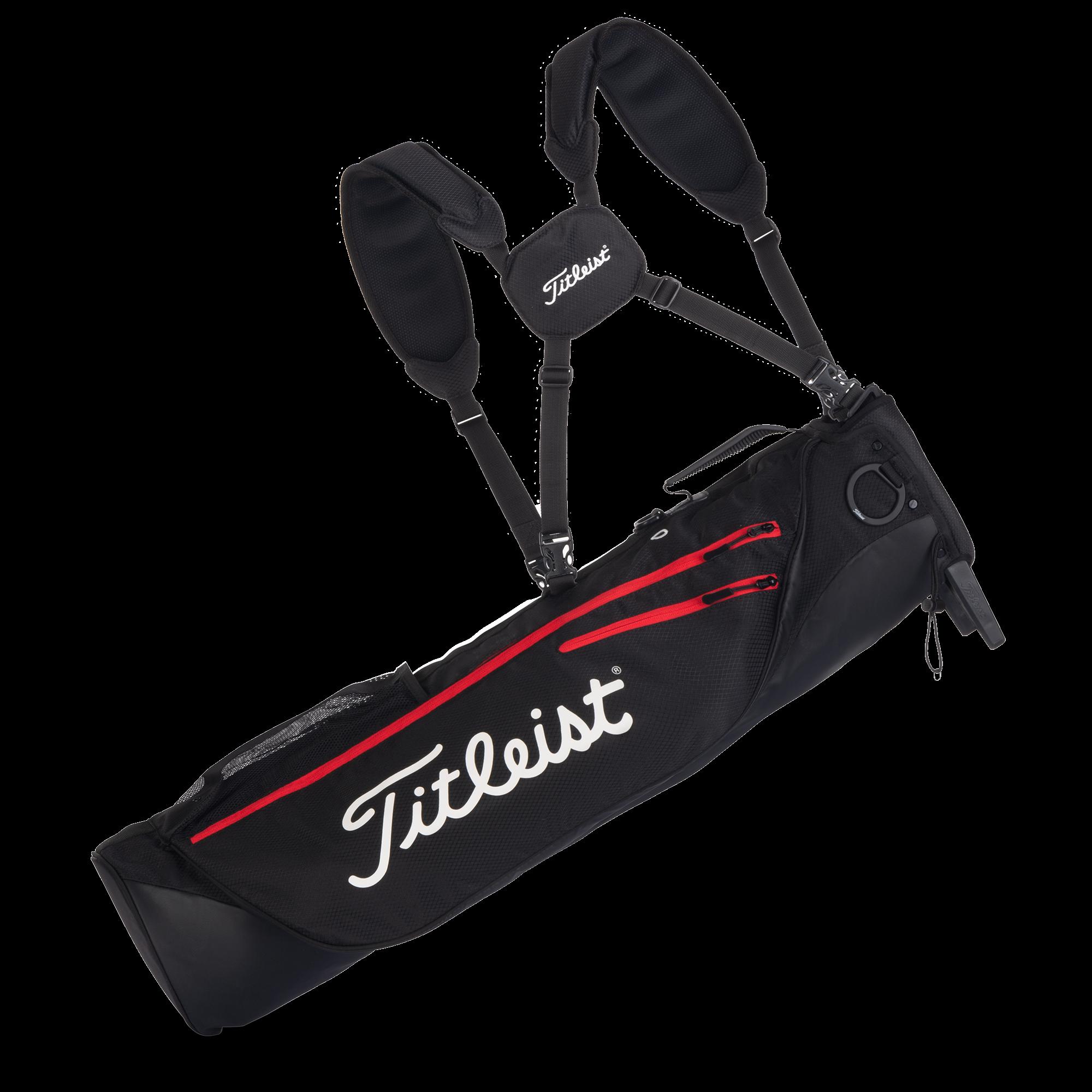 Titleist golftas Premium Carry Bag zwart-rood