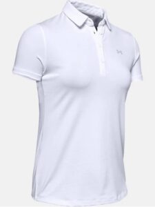 Under Armour dames golfpolo Zinger korte mouw wit