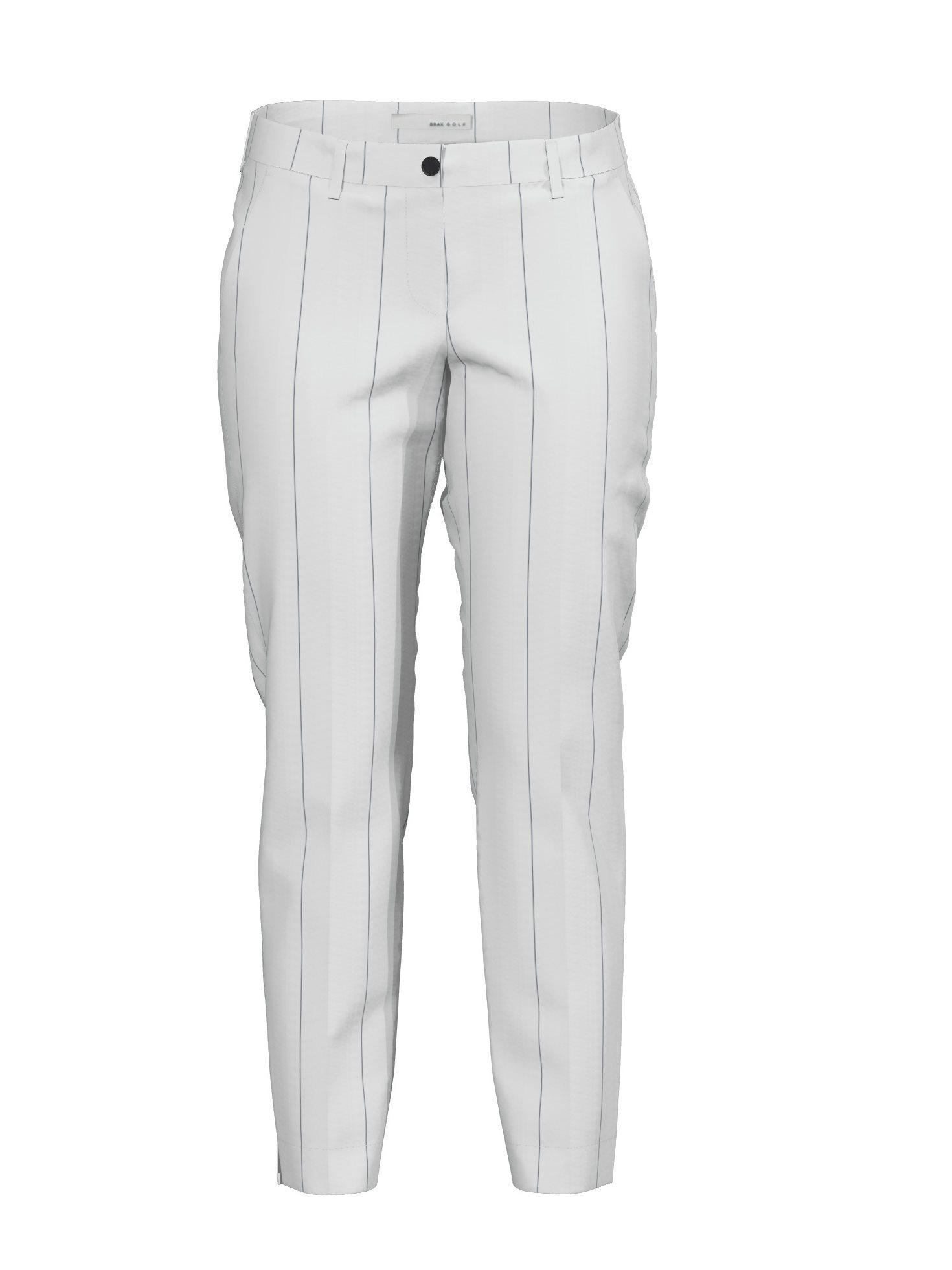 Brax dames pantalon Cloe high water (7/8) streepje wit-zwart