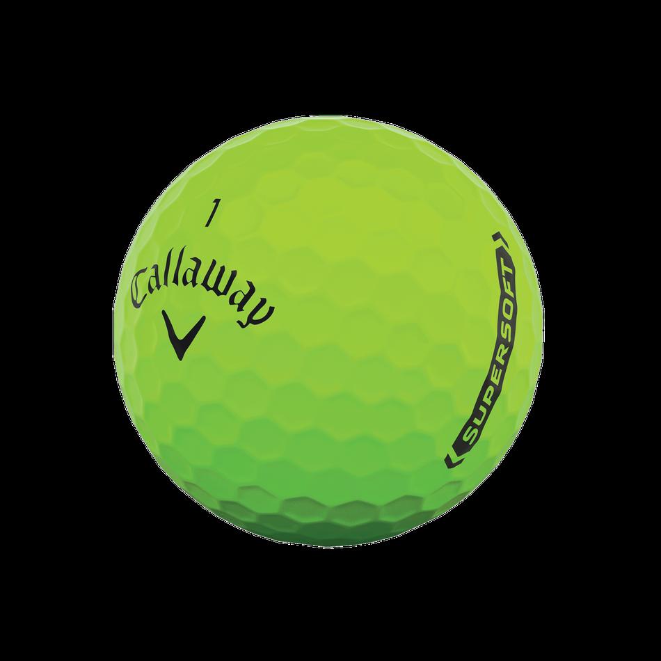 Callaway golfballen Supersoft matte groen