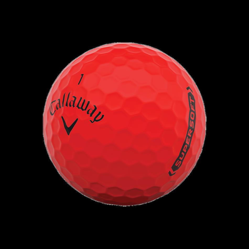 Callaway golfballen Supersoft matte rood