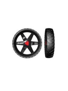 Clicgear 3.5 trolleywiel achter zwart