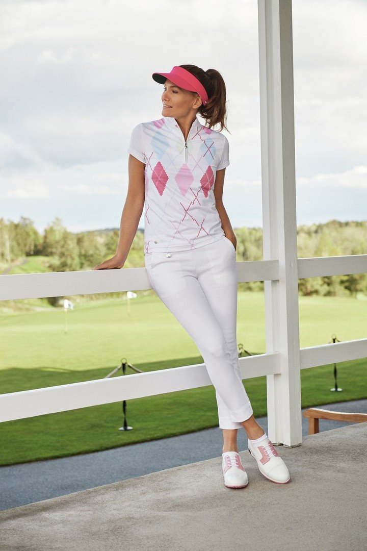 Daily Sports dames golfpolo cap Aletta gebroken wit