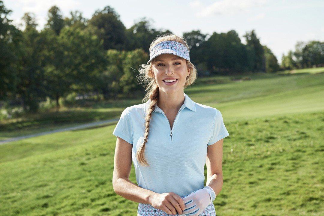 Daily Sports dames golfpolo cap mouw Macy lichtblauw
