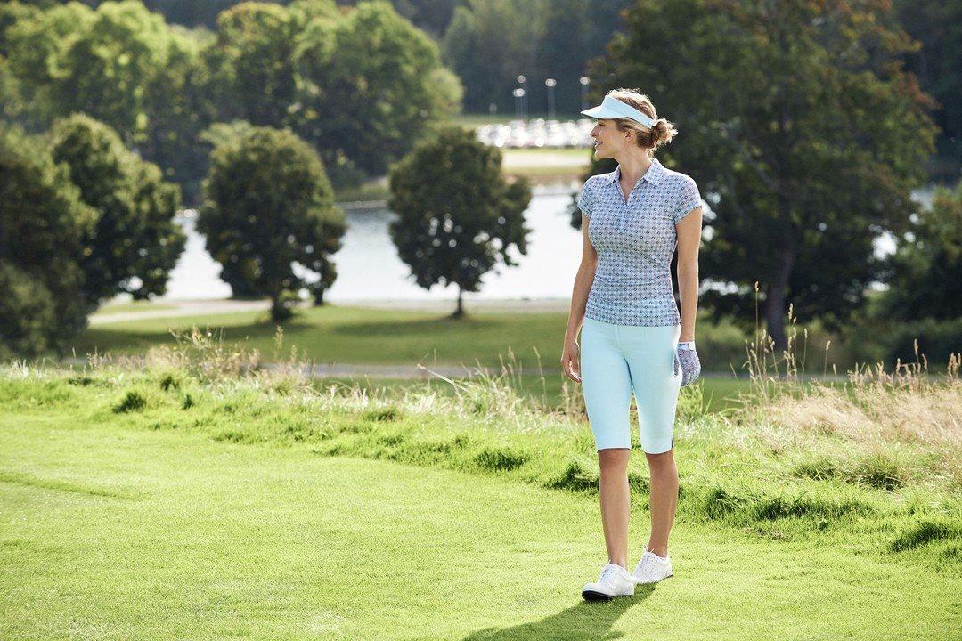 Daily Sports dames golfpolo mesh Sue lichtblauw