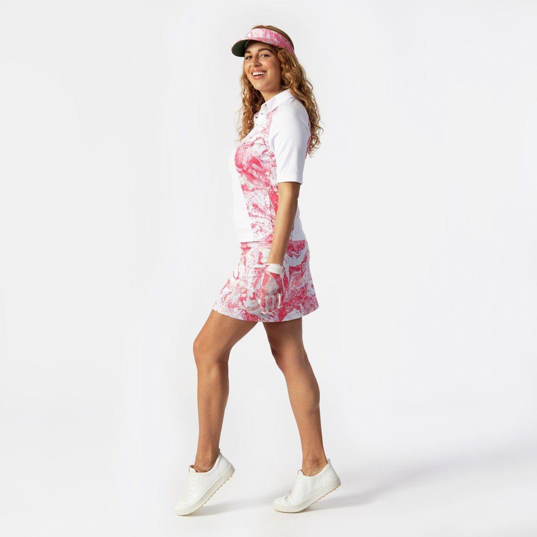 Daily Sports dames golfvisor Adelina rozerood-wit-blauw-zand