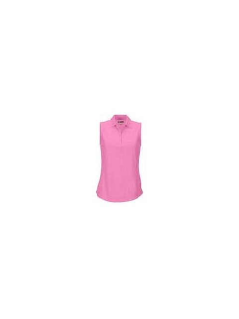 Greg Norman dames golfpolo mouwloos ProTek pink blush