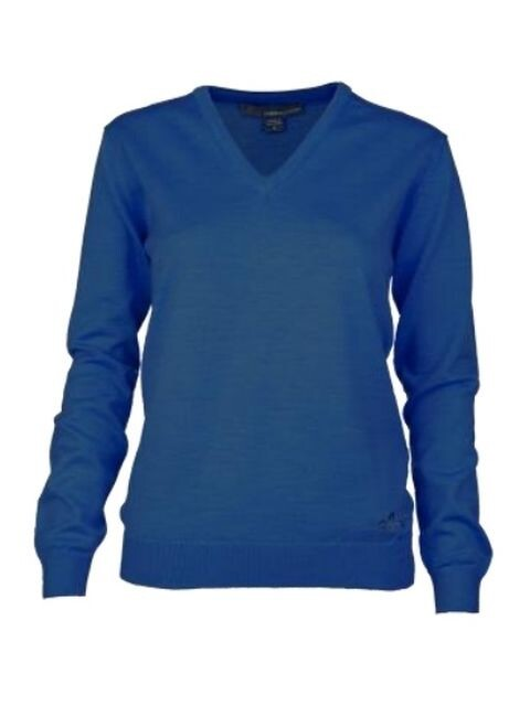 Greg Norman dames golfpullover Merino jeansblauw