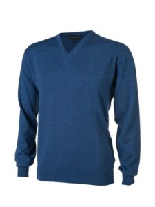 Greg Norman heren golfpullover Merino blauw