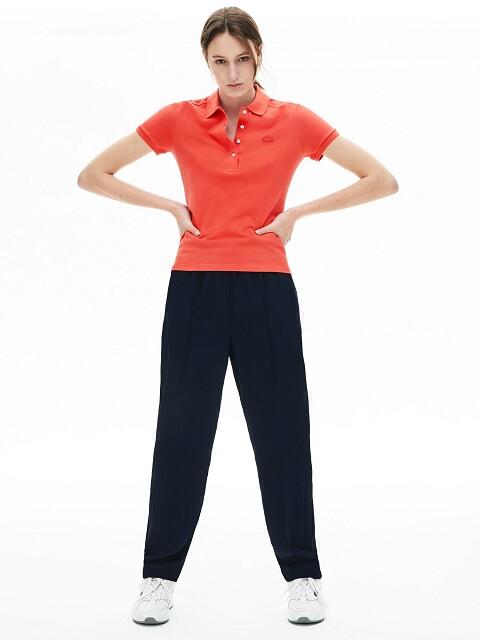 Lacoste dames golfpolo korte mouw rood