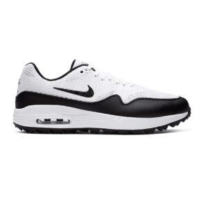 Nike unisex/dames golfschoenen Air Max 1G wit-zwart