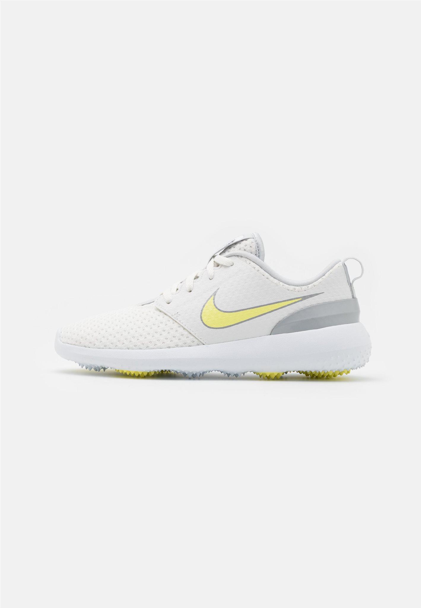 Nike dames golfschoenen Roshe G wit-geel