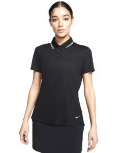 Nike dames golfpolo Dri-FIT Victory zwart