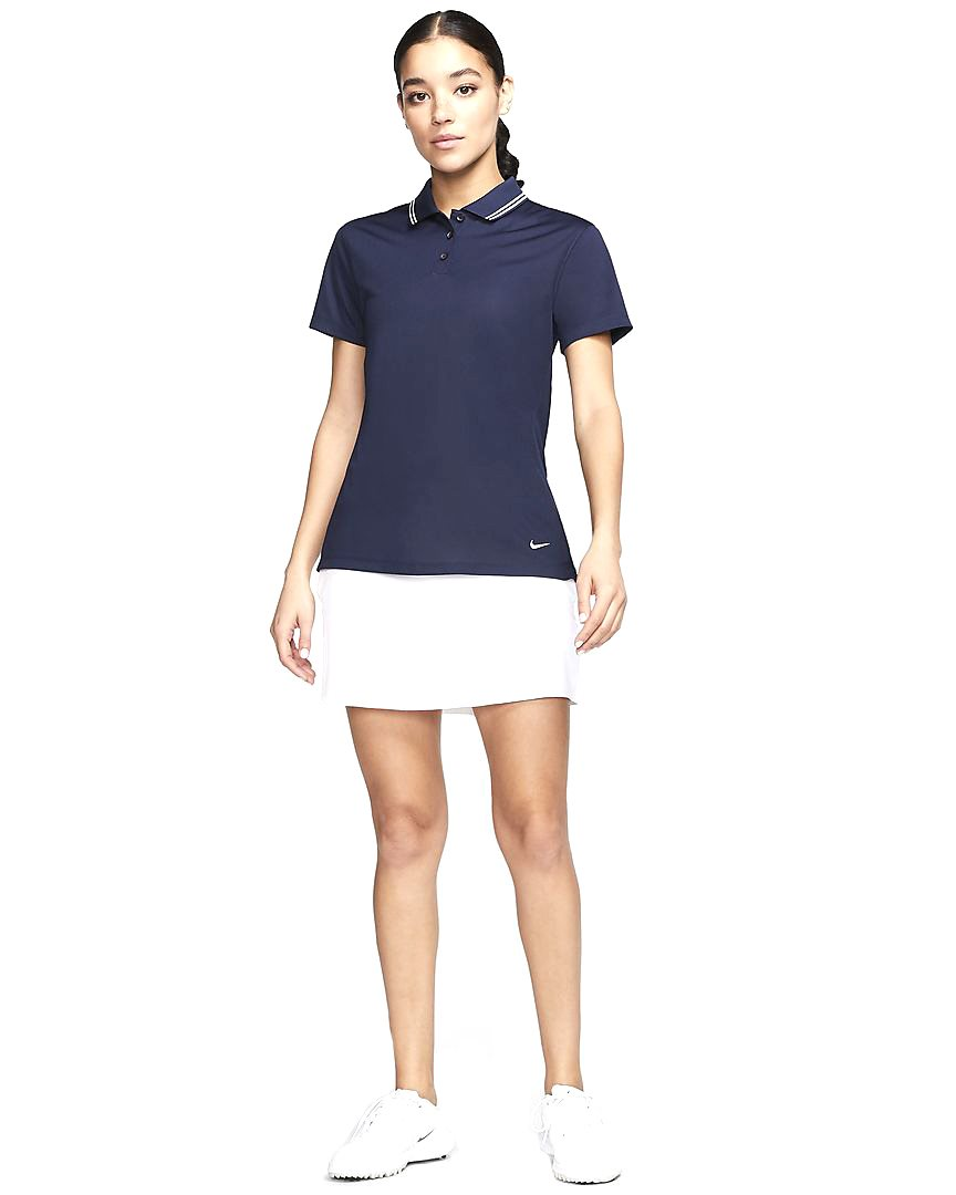 Nike dames golfpolo Dri-FIT Victory navy
