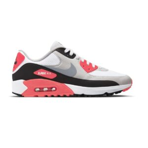 Nike dames/unisex golfschoenen Air Max 90 G wit-rood