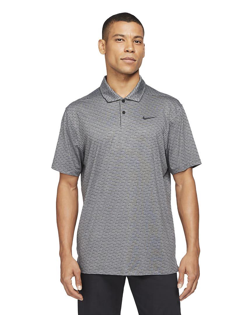 Nike heren golfpolo Dri-FIT Vapor streep grijs