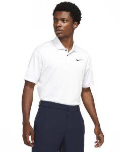 Nike heren golfpolo Dri-FIT Vapor wit
