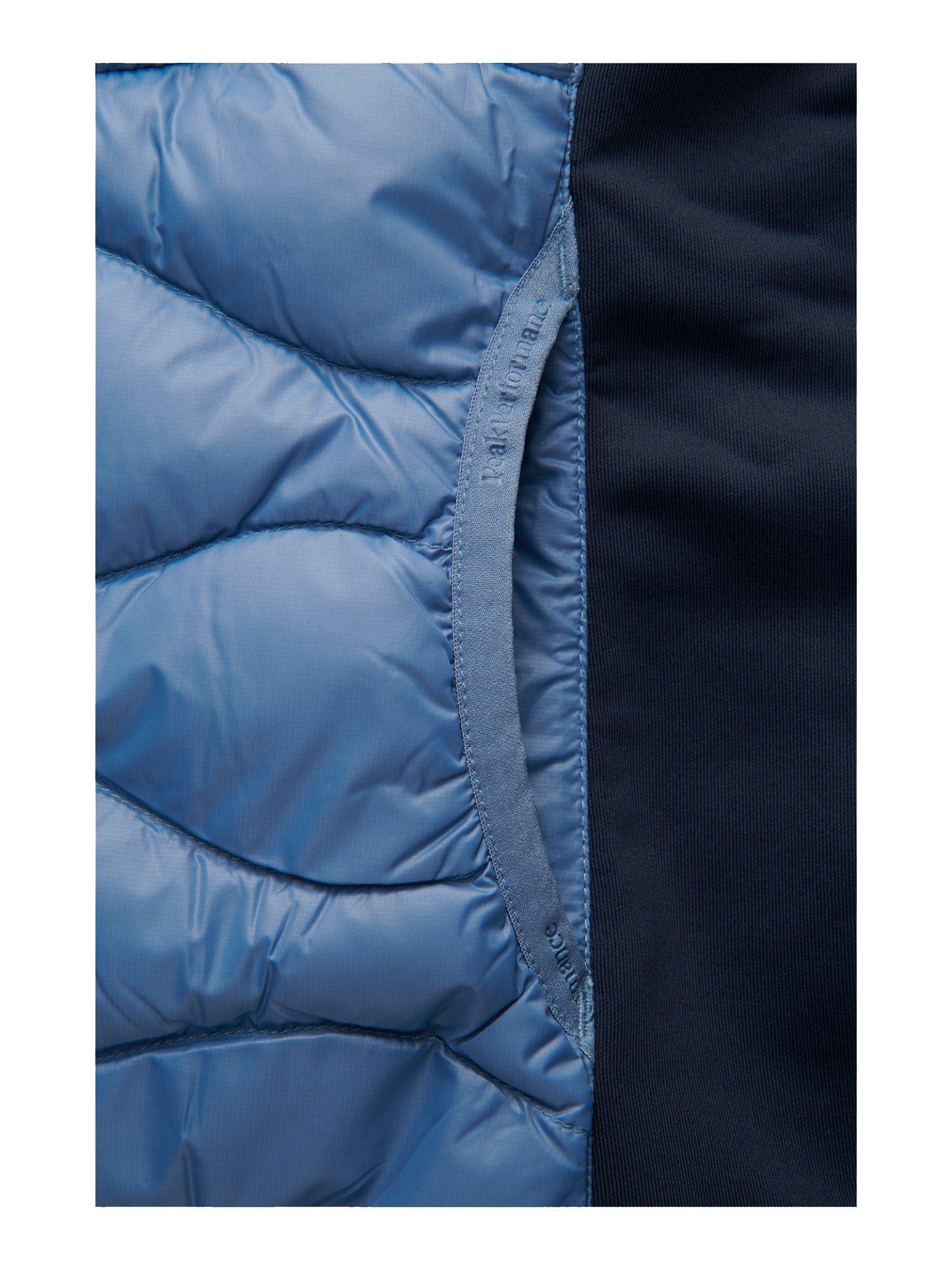 Peak Performance dames golfjack Helium Hybrid Hood navy-blauw