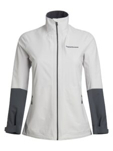 Peak Performance dames golf regenjack Velox wit-grijs