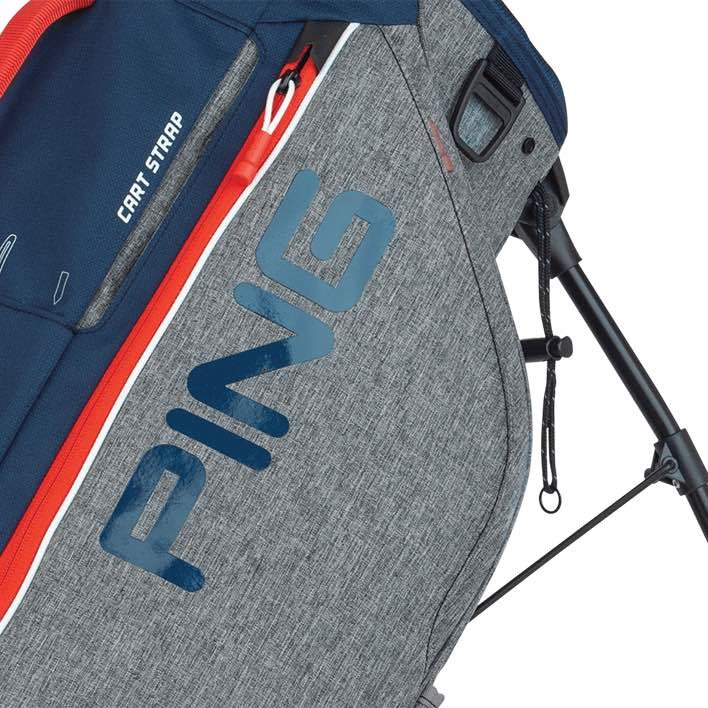 Ping golftas Hoofer Lite Stand Bag grijs-navy-rood