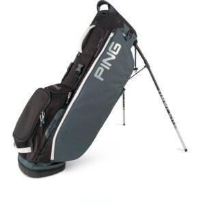 Ping golftas Hoofer Lite Stand Bag donkergrijs-zwart-wit