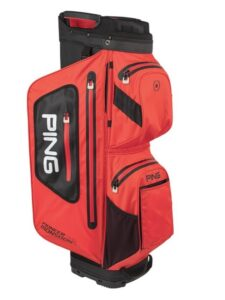 Ping golftas Pioneer Monsoon Cart Bag waterdicht rood-zwart