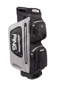 Ping golftas Pioneer Monsoon Cart Bag waterdicht grijs-zwart-wit