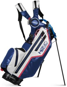 Sun Mountain golftas H2NO Lite Stand Bag 2021 blauw-wit-rood