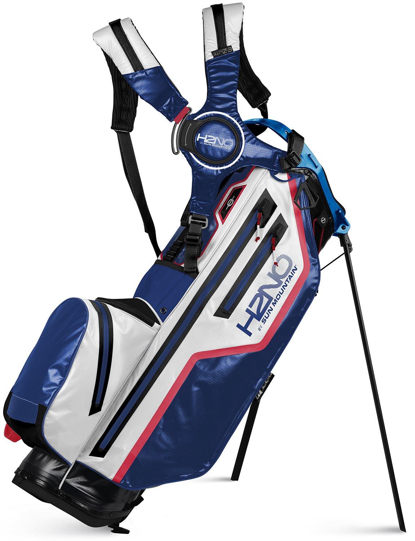Sun Mountain golftas H2NO Lite Stand Bag 2021 blauw-wit-rood