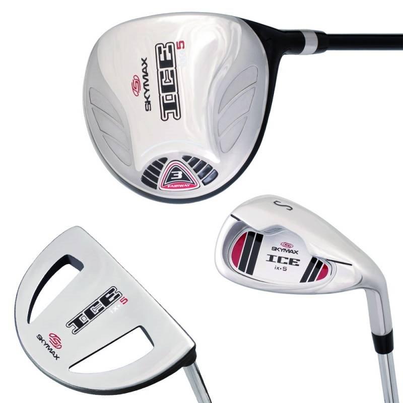 Skymax heren 1/2 golfset ICE IX-5 graphite + stand bag zwart