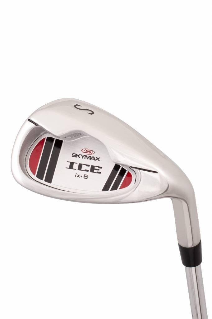 Skymax heren 1/2 golfset ICE IX-5 staal + stand bag zwart