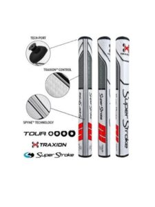SuperStroke Traxion Tour 2.0 puttergrip wit-rood-grijs