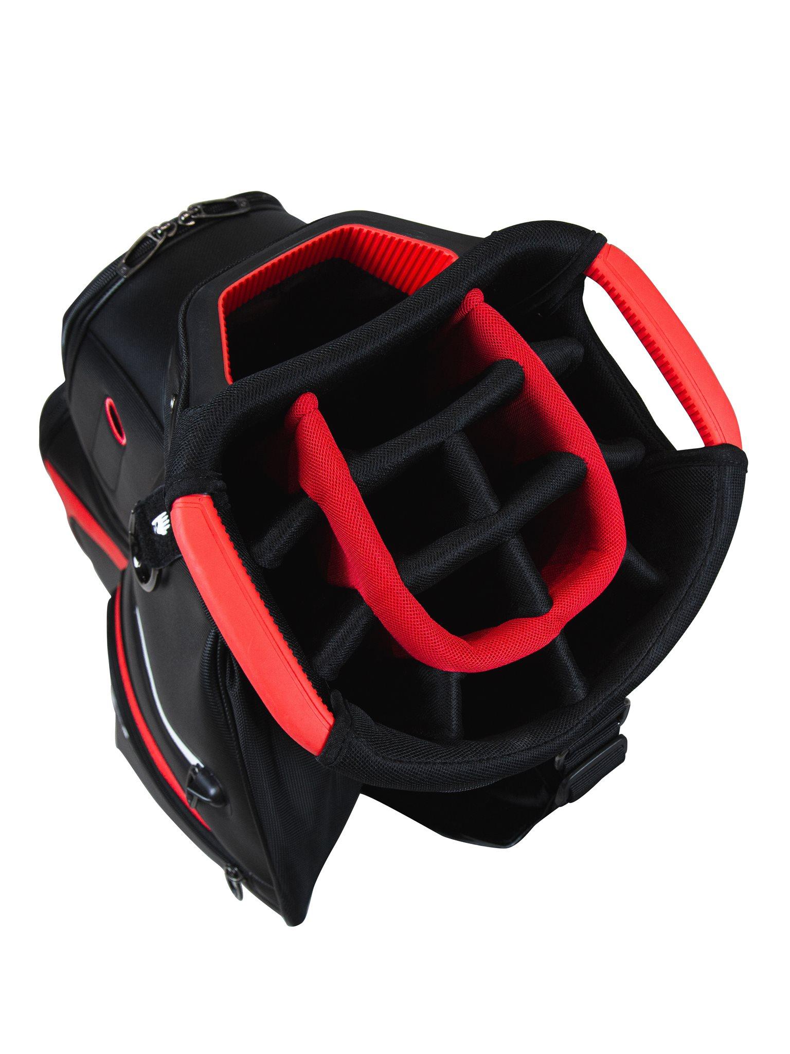 TaylorMade golftas Deluxe Cart Bag zwart-rood
