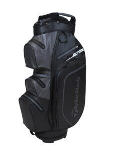 TaylorMade golftas StormDry Waterproof Cart Bag zwart-donkergrijs