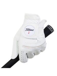 Titleist dames golfhandschoen Perma-Soft leer wit