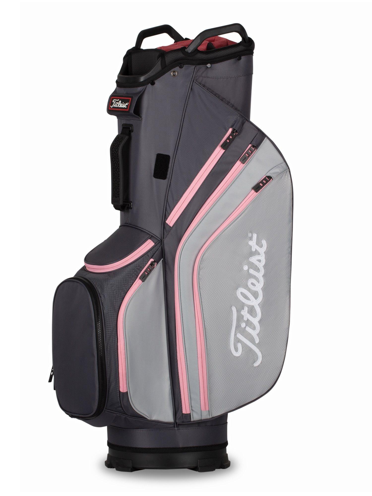 Titleist golftas 14 Lightweight Cart Bag grijs-roze