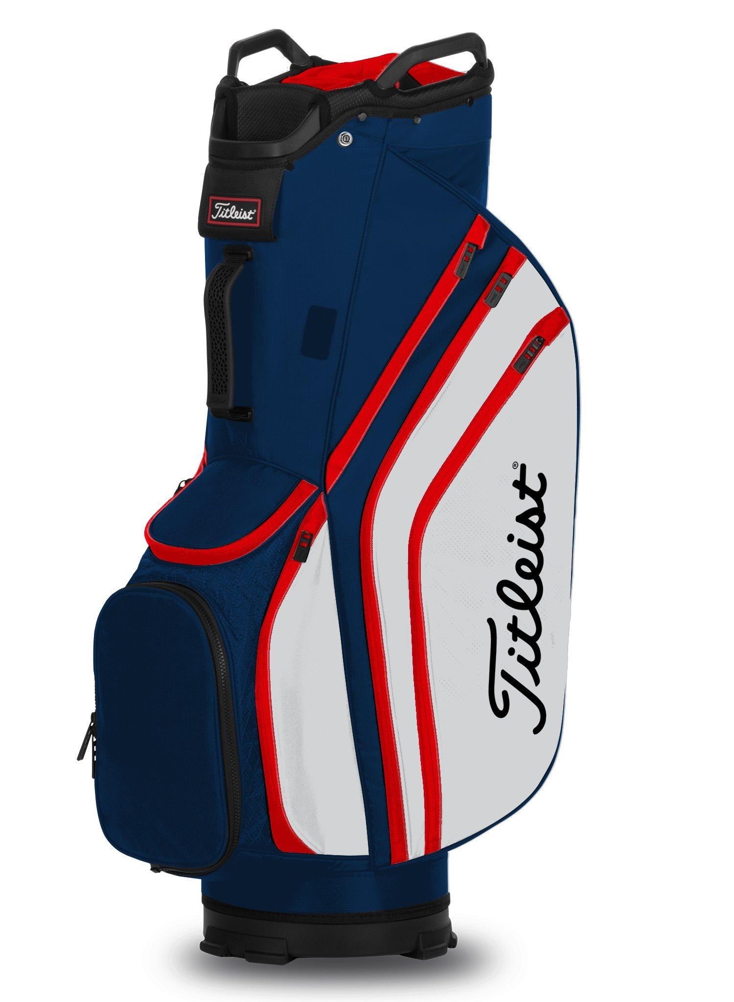 Titleist golftas 14 Lightweight Cart Bag navy-wit-rood