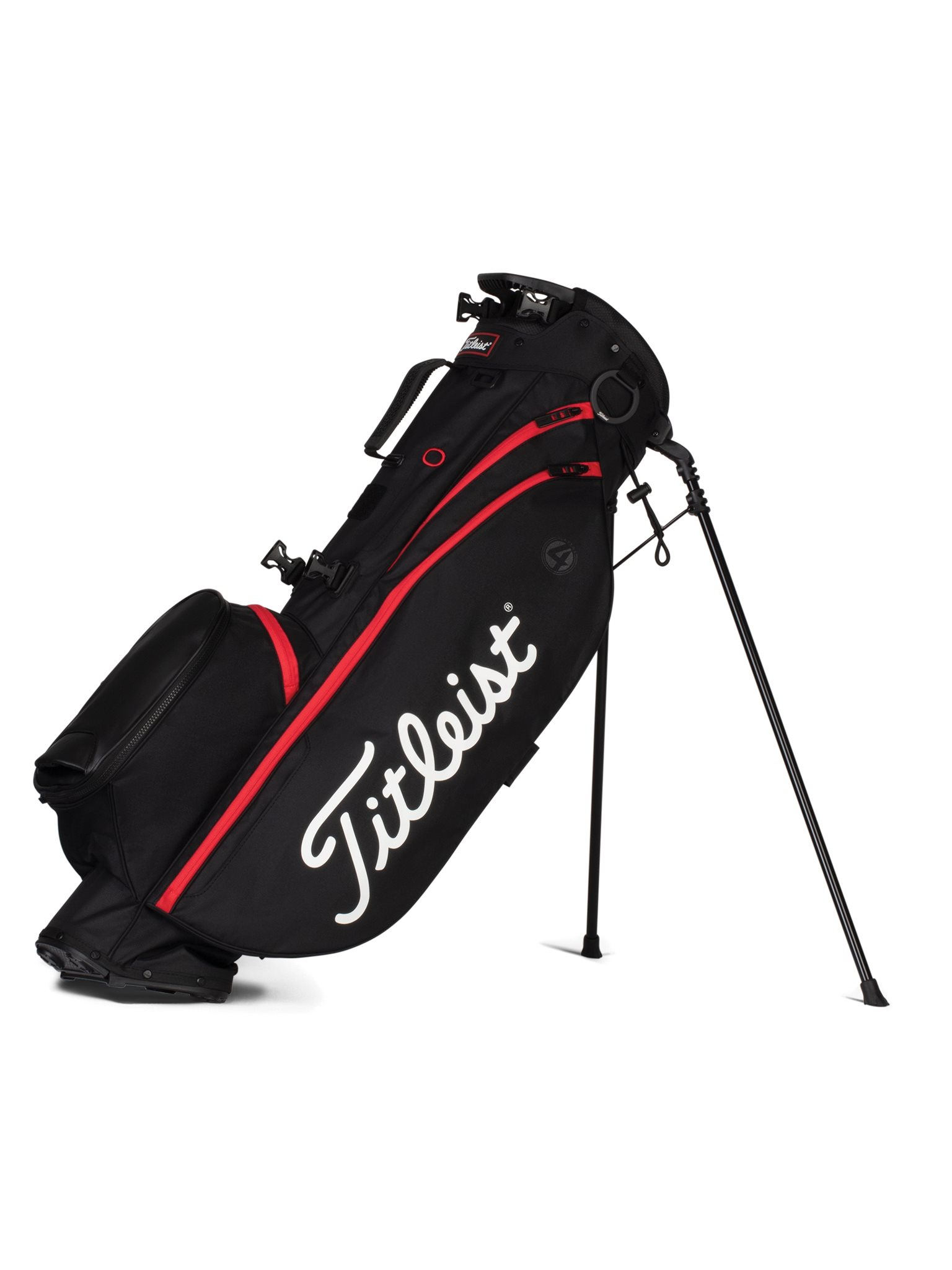 Titleist golftas Players 4 Stand Bag zwart-rood