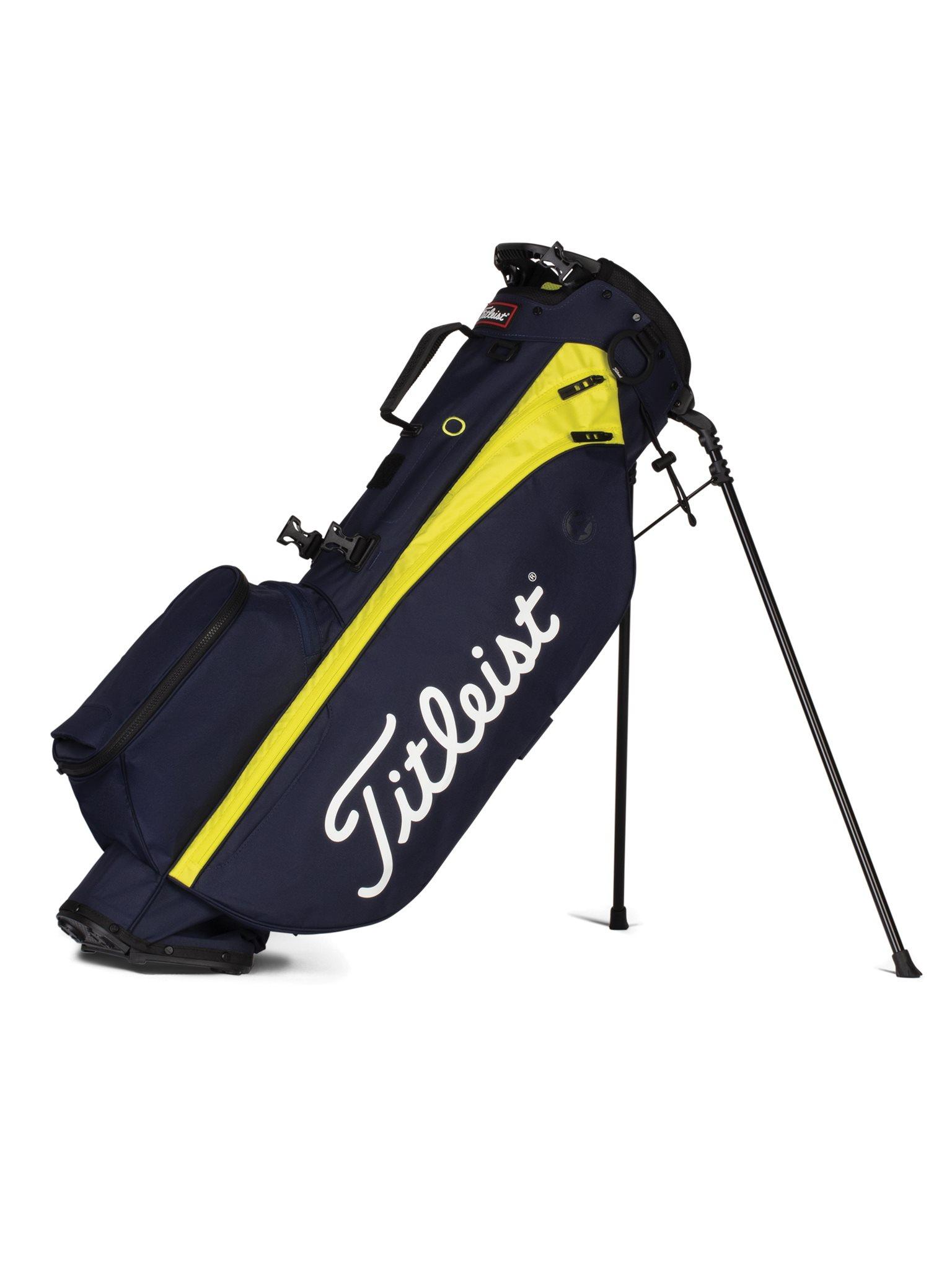 Titleist golftas Players 4 Stand Bag navy-geel