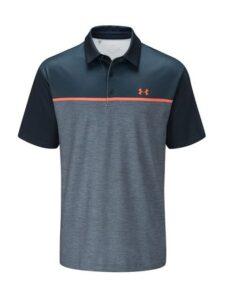 Under Armour heren golfpolo Crestable Playoff 2.0 navy-oranje