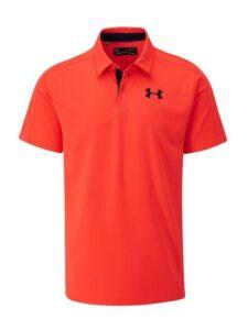 Under Armour heren golfpolo Vanish oranjerood
