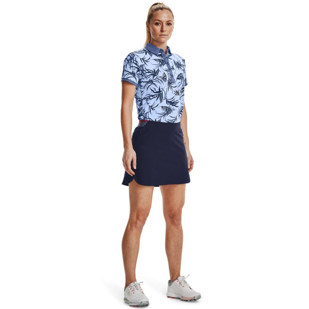 Under Armour dames golfpolo Zinger Novelty blauw