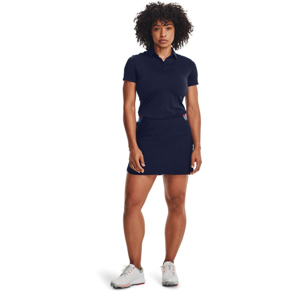 Under Armour dames golfpolo Zinger donkerblauw