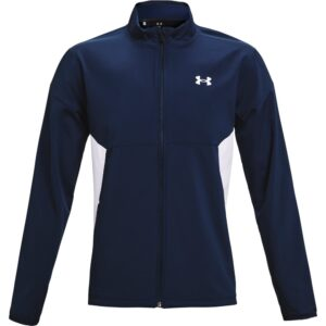 Under Armour heren golfjack Storm Windstrike blauw-wit