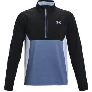 Under Armour heren golfjack Storm Windstrike 1/2 rits blauw-zwart